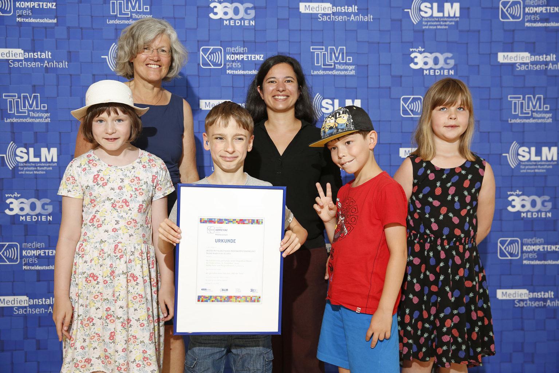Verleihung des Medienkompetenzpreises 2019 - Gewinner in der Kategorie 1, MDR, Leipzig, 22.06.2019 © MDR/punctum/Stefan Hoyer