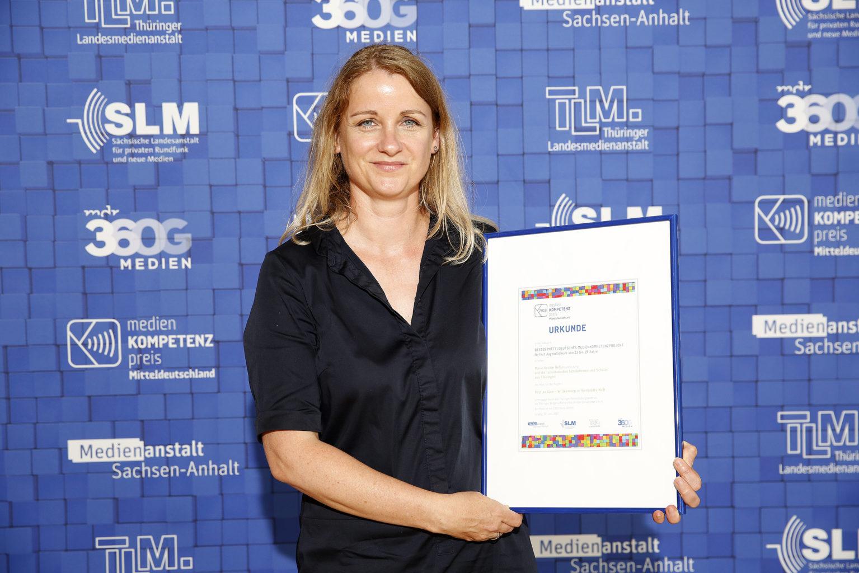 Verleihung des Medienkompetenzpreises 2019 - Gewinner in der Kategorie 2, MDR, Leipzig, 22.06.2019 © MDR/punctum/Stefan Hoyer