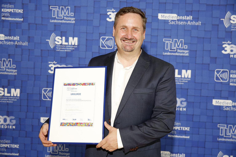 Verleihung des Medienkompetenzpreises 2019 - Gewinner in der Kategorie 5, MDR, Leipzig, 22.06.2019, © MDR/punctum/Stefan Hoyer